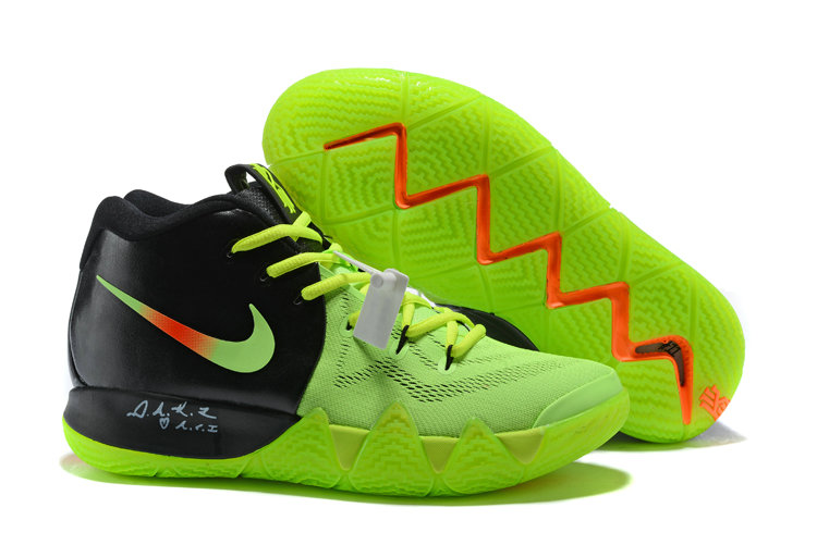 818ee36983b2 Cheap Wholesale Nike Kyrie Shoes x Cheap Wholesale Nike Kyrie 4 PE Neon  Green Black Orange