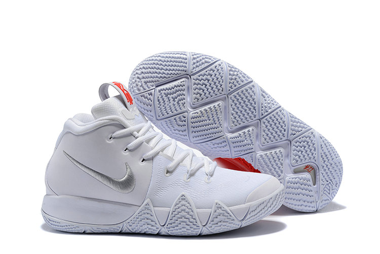 45f7c6c4da4b Cheap Wholesale Nike Kyrie Shoes x Cheap Wholesale Nike Kyrie 4 Triple  White Red Silver