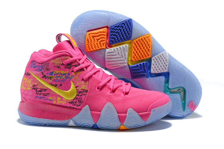 Cheap Wholesale Nike Kyrie Shoes x Cheap Wholesale Nike Kyrie 4 What The Pink Teal Christmas