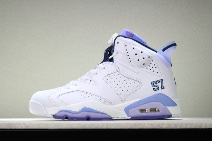 Cheap Wholesale 2018 Mens Air Jordan 6 UNC Championship PE White University Blue For Sale