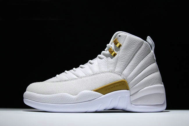 Cheap Wholesale 2018 New Air Jordan 12 OVO White Metallic Gold-White For  Sale ded0a0240