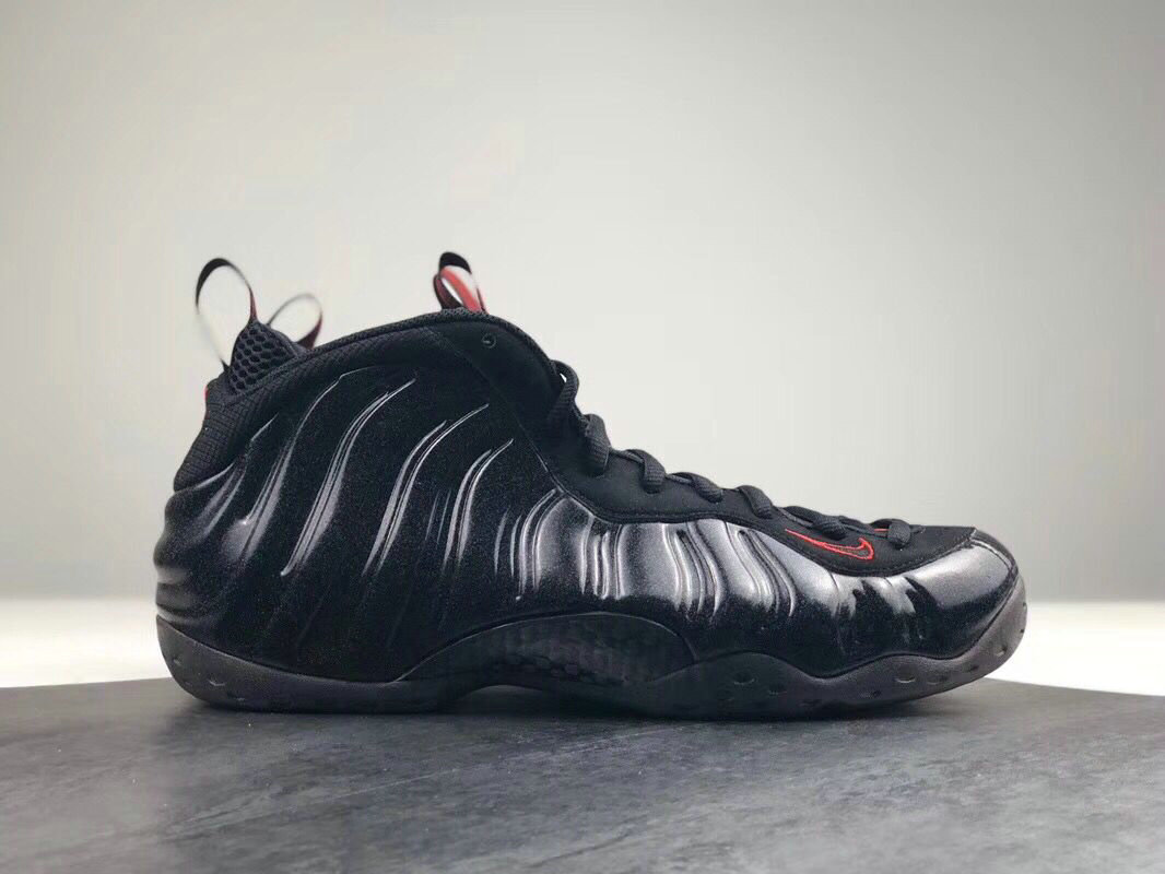2018 Nike Air Foamposite One Black Red Cheap Wholesale Sale