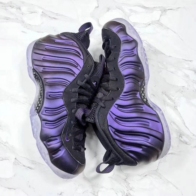 2018 Nike Air Foamposite One Purple Black Cheap Wholesale Sale