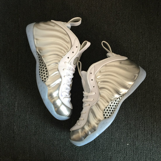 2018 Nike Air Foamposite Pro Silver Grey White Cheap Wholesale Sale