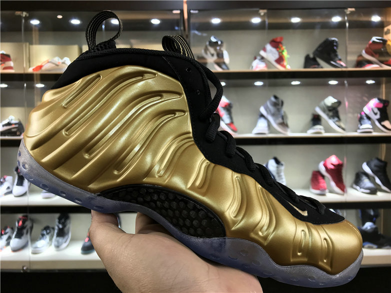 Cheap Wholesale Nike Foamposite x Cheap Wholesale Nike Air Foamposite One Metallic Gold