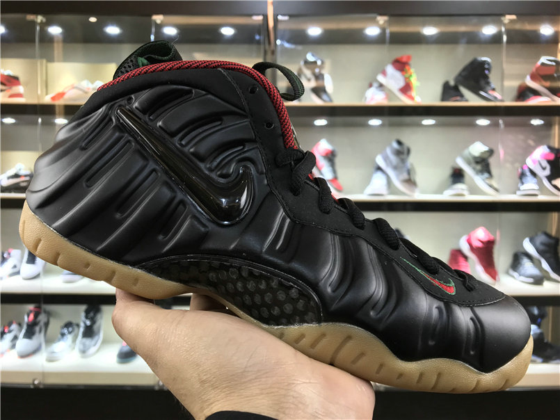 Cheap Wholesale Nike Foamposite x Cheap Wholesale Nike Air Foamposite Pro Fire Red Black Gold