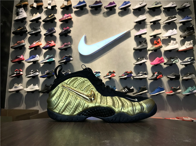 Cheap Wholesale Nike Foamposite x Cheap Wholesale Nike Air Foamposite Pro Metallic Gold