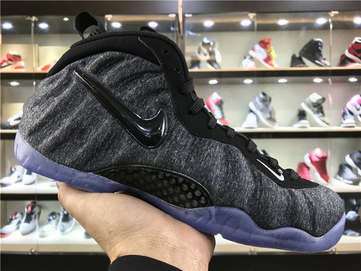 Cheap Wholesale Nike Foamposite x Cheap Wholesale Nike Air Foamposite Pro Wolf Grey Black Foam in Fleece
