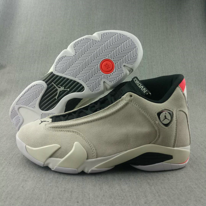 2018 Nike Air Jordan 14 Cream White Black Cheap Wholesale Sale