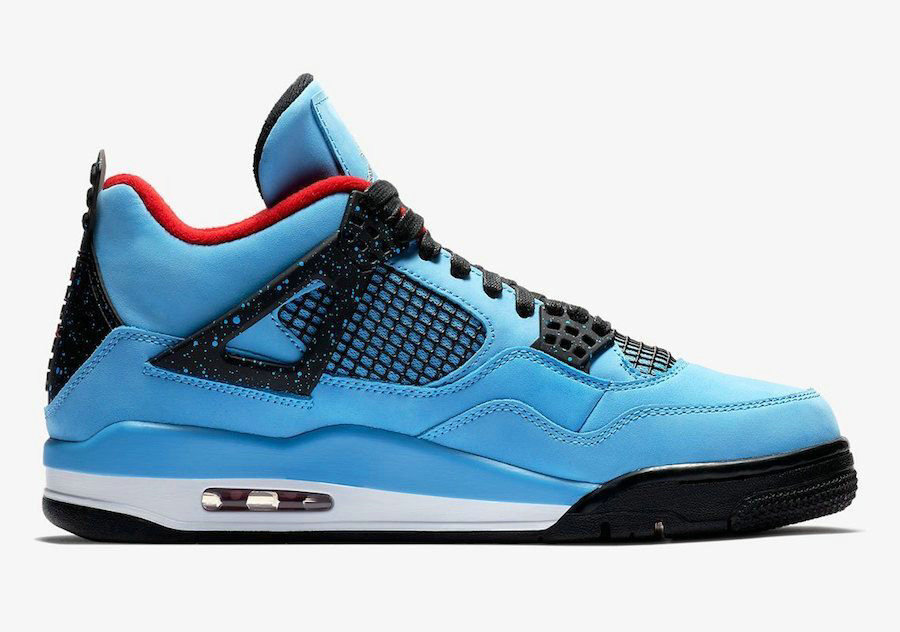 2018 Nike Air Jordan 4 Sky Blue Black Red Cheap Wholesale Sale