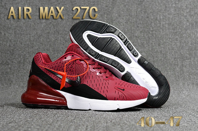 promo code f36ab 6900e 2018 Nike Air Max 270 Burgundy Black White Red Mens Cheap Wholesale Online