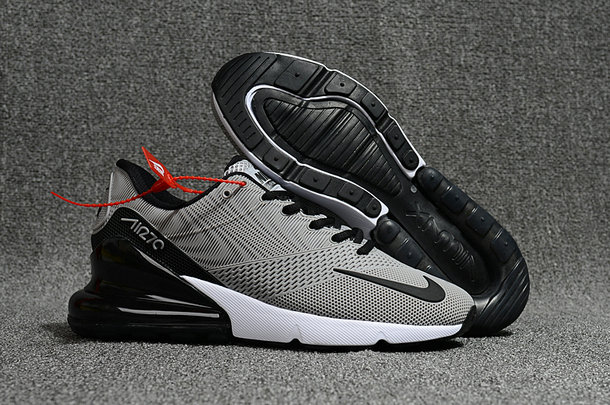 huge selection of 73171 43cc7 2018 Nike Air Max 270 Rubber Patch Black Grey White Cheap Wholesale Online