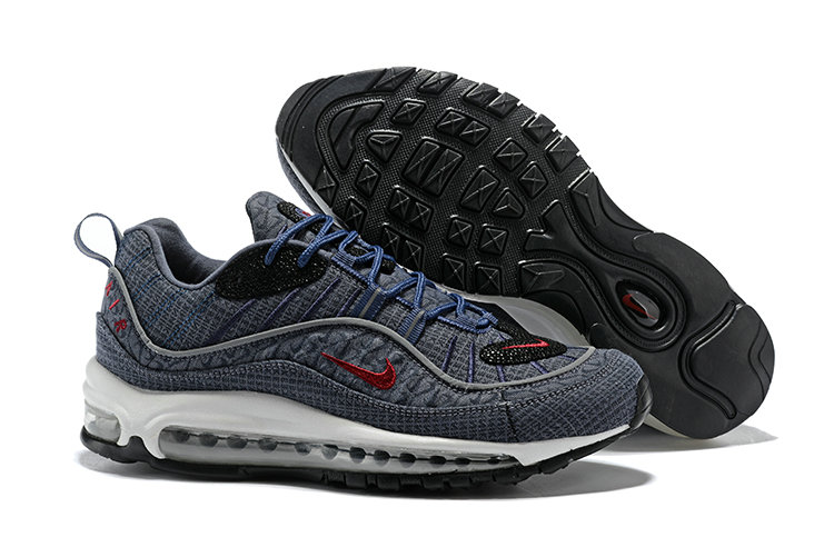 official photos f288b 3f12a 2018 Nike Air Max 98 Colorways Grey Red Blue Black Cheap Wholesale Sale