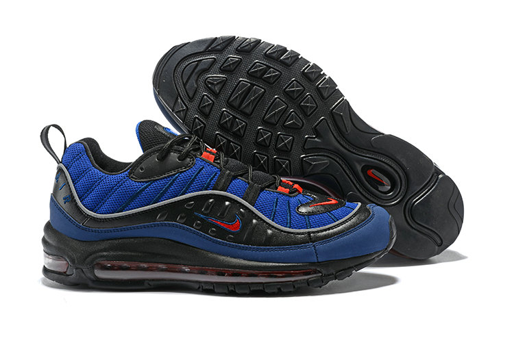 2018 Nike Air Max 98 Colorways Navy Blue Red Black Cheap Wholesale Sale