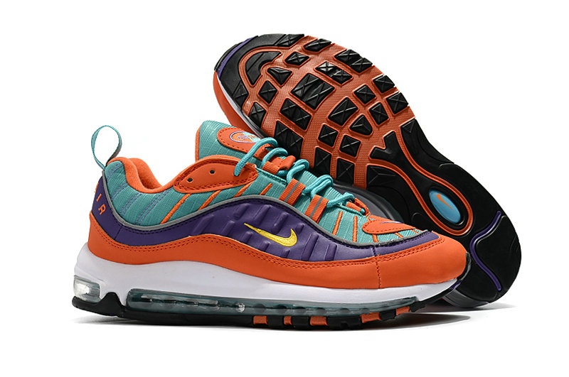 size 40 2ef0f 95851 2018 Nike Air Max 98 Colorways Orange Purple Green White Cheap Wholesale  Sale