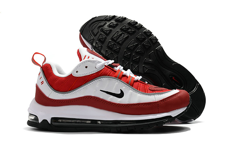2018 Nike Air Max 98 Colorways Red White Black Cheap Wholesale Sale
