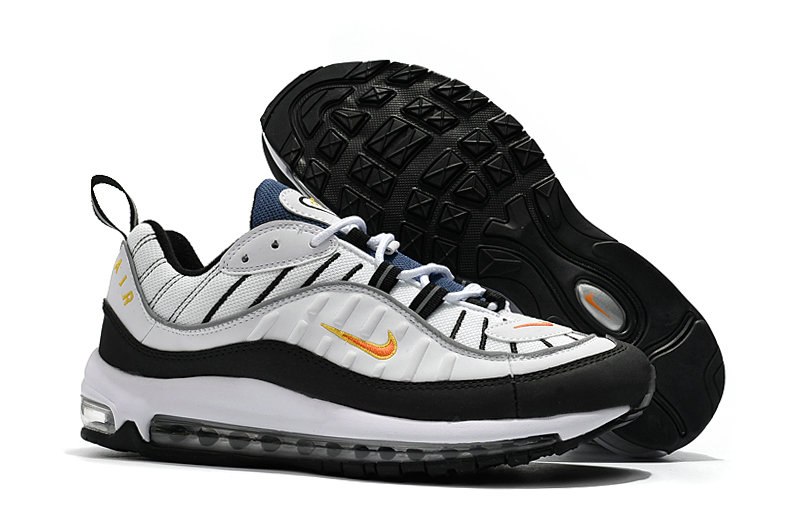 ac059d6d31df9 2018 Nike Air Max 98 Colorways White Black Gold Cheap Wholesale Sale ...