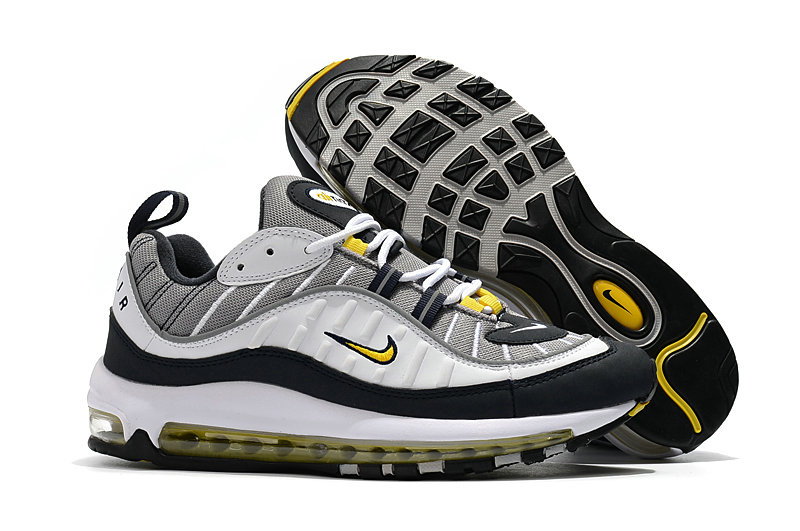 2018 Nike Air Max 98 Colorways Yellow Grey White Black Cheap Wholesale Sale