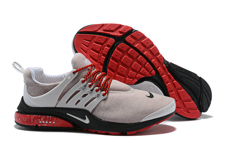 2018 Nike Air Presto BR QS Grey Red Black Cheap Wholesale Sale