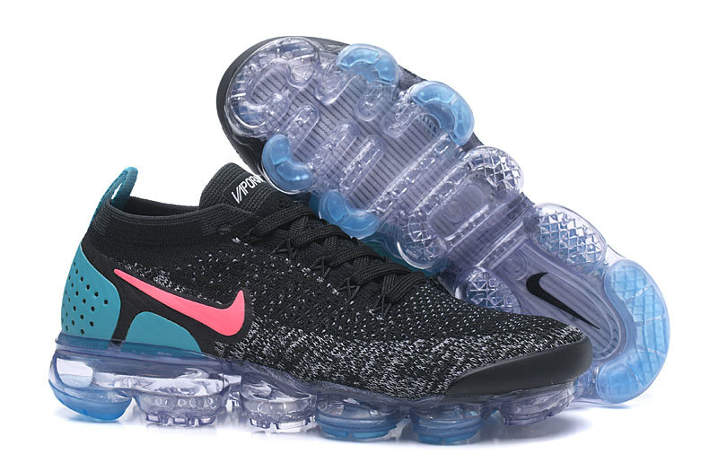 buy online a7796 a90b9 2018 Nike Air VaporMax Flyknit 2.0 Opal Green Pink Grey Cheap Wholesale Sale