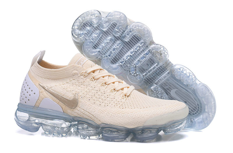 2018 Womens Nike Air VaporMax Flyknit 2.0 Rose Gold Grey
