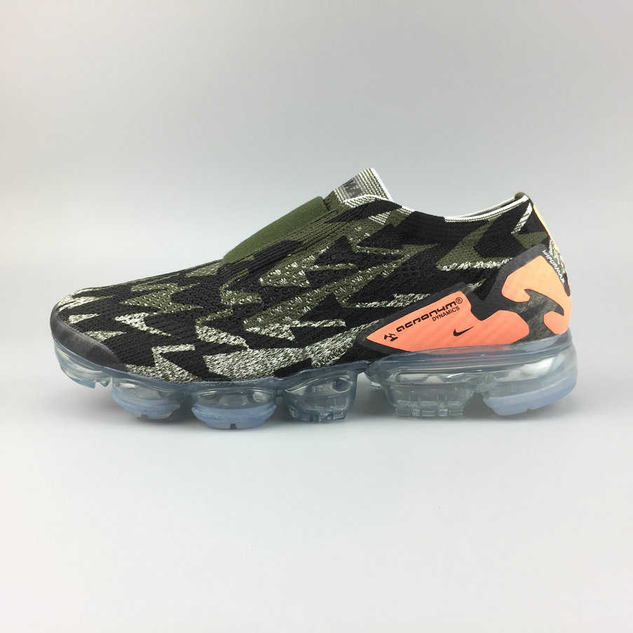 04ed6f6d2c1ff 2018 Nike Air VaporMax Moc 2 ACRONYM Orange Army Green Black Mens Cheap  Wholesale Sale