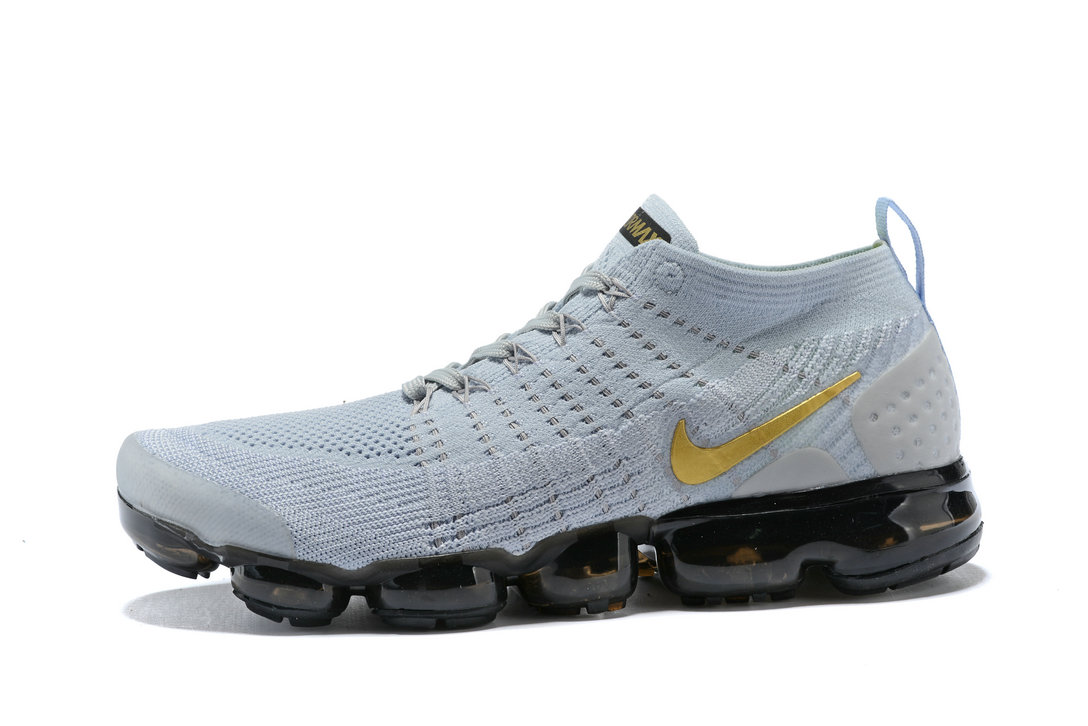 029aa1f6734 2018 Nike Air VaporMax flyknit 2.0 SneakerBoots Gold Grey Black Cheap  Wholesale Sale