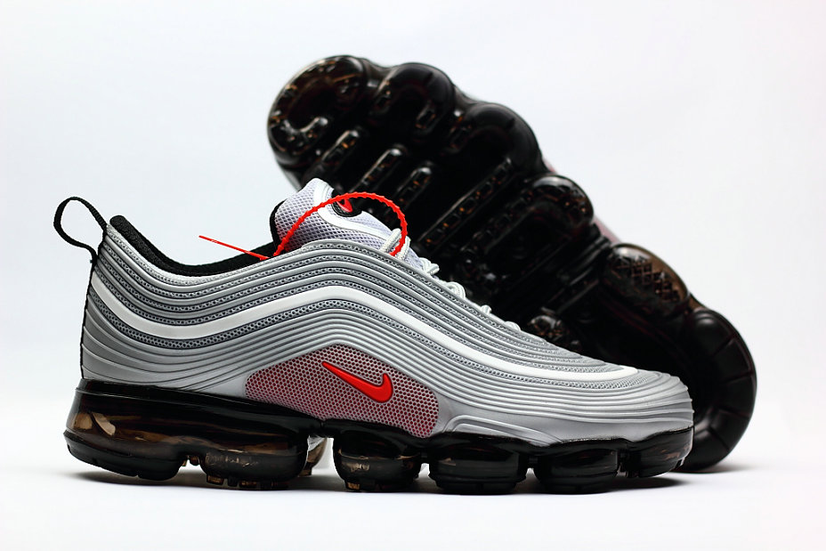 new product 2986c ed6e8 2018 Nike Air VaporMax x Air Max 97 Grey Red Black Cheap Wholesale Sale