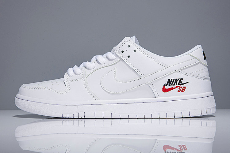 Cheap Wholesale Nike SB Dunk x Cheap Wholesale Nike Dunk Low Elite SB Triple White