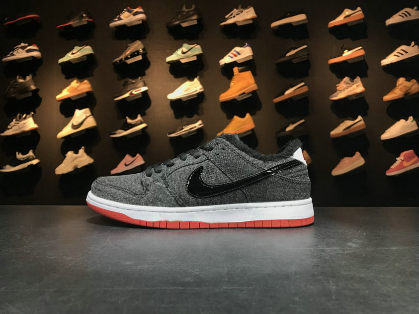 Cheap Wholesale Nike SB Dunk x Cheap Wholesale Nike Dunk Low Premium SB Larry Perkins Black White Red Noir Blanc Rouge