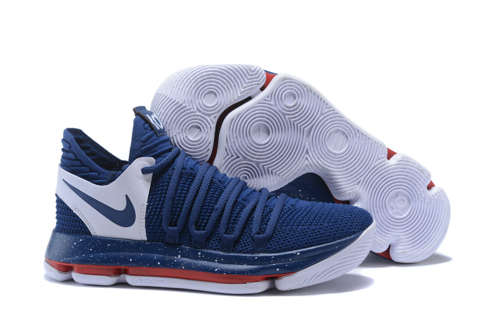 Cheap Wholesale Nike Kevin Durant x Cheap Wholesale Nike KD 10 Game Blue White