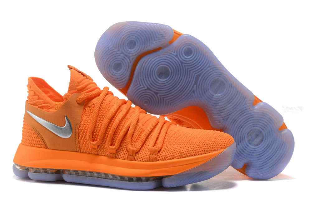 Cheap Wholesale Nike Kevin Durant x Cheap Wholesale Nike KD 10 Orange Grey Silver