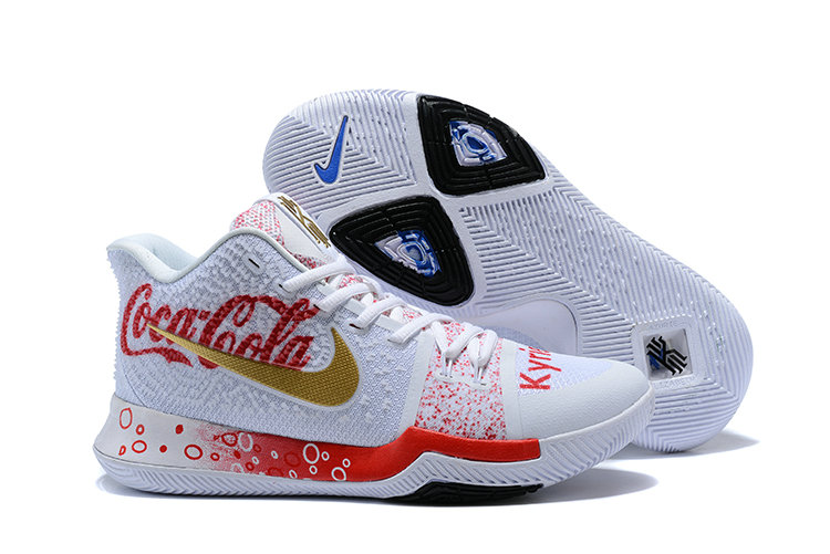 2018 Nike Kyrie Irvings 3 III Red White Gold Black Cheap Wholesale Sale