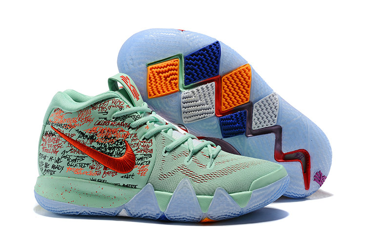 2018 Nike Kyrie Irvings 4 What The Peppermint Green Red Cheap Wholesale Sale