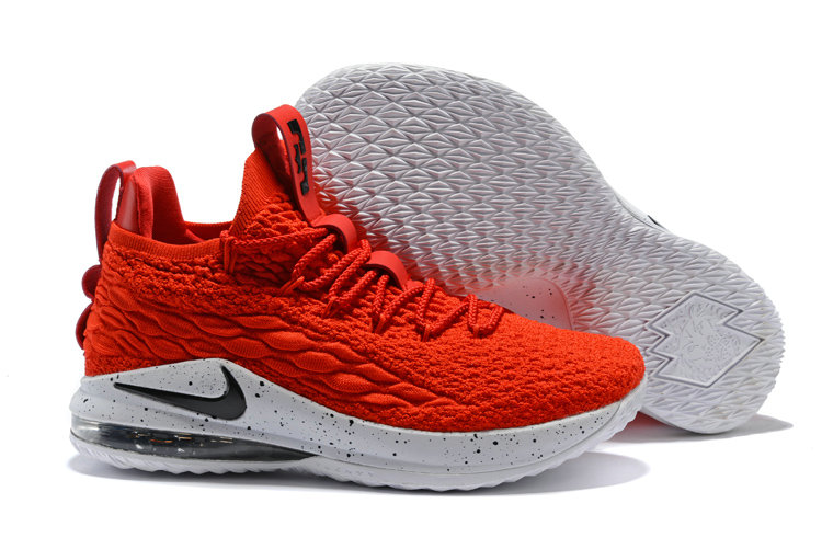 be38f382bef 2018 Nike Lebron 15 Low University Red White Black Cheap Wholesale Sale