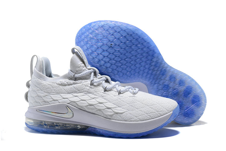 save off a8d31 06672 2018 Nike Lebron 15 Low Blue Red White Cheap Wholesale Sale ...