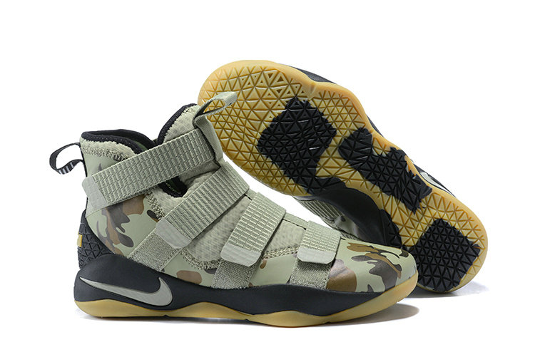 2018 Nike Lebron Soldier 11 XI Gold Army Green Cheap Wholesale Sale