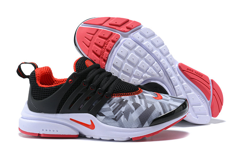 Cheap Wholesale Nike Air Presto x Cheap Wholesale Womens Nike Air Presto Grey Black Fire Red