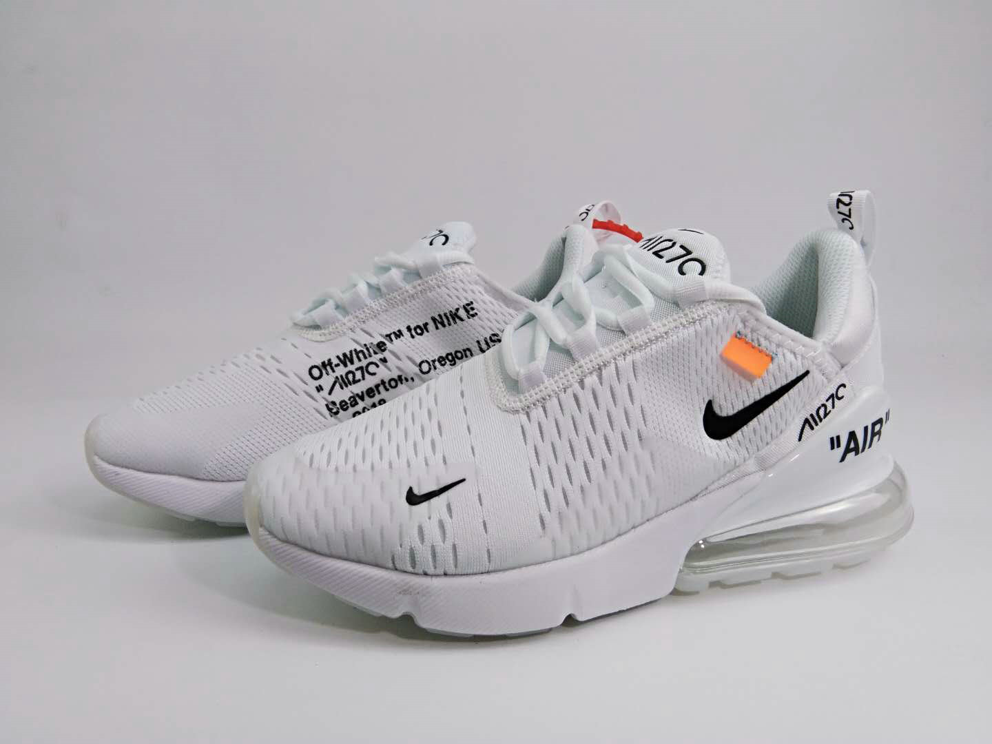 42733267a14a 2018 Nike The 10 OFF-WHITE Air Max 270 Triple White Cheap Wholesale Sale