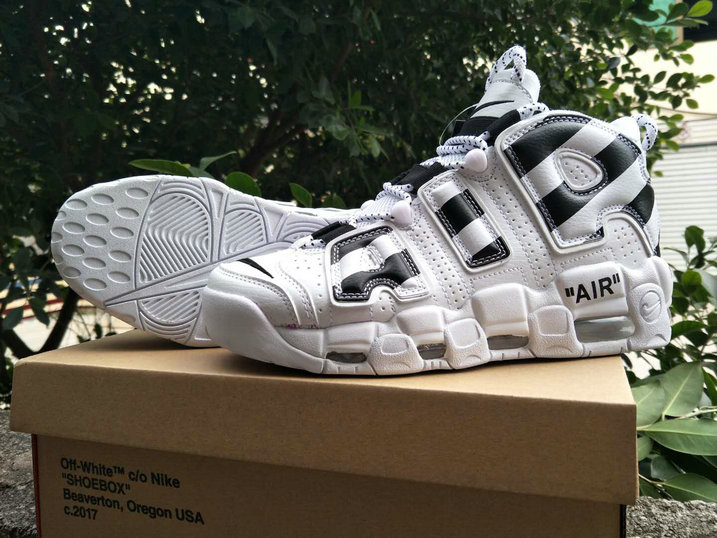 Cheap Wholesale Nike Air Uptempo x Cheap Wholesale Nike Air More Uptempo x OFF WHITE Black White