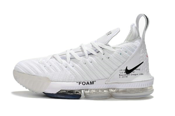 93af930c216 Cheap Wholesale 2018 Off-White x Nike LeBron 16 White Mens Basketball Shoes  For Sale
