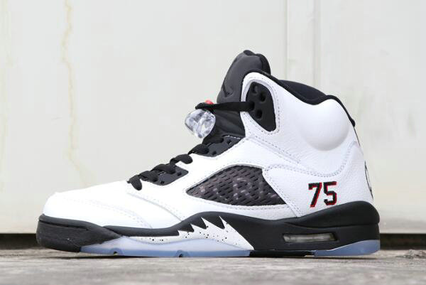Cheap Wholesale 2018 PSG x Air Jordan 5 Friends and Family White Black For Sale