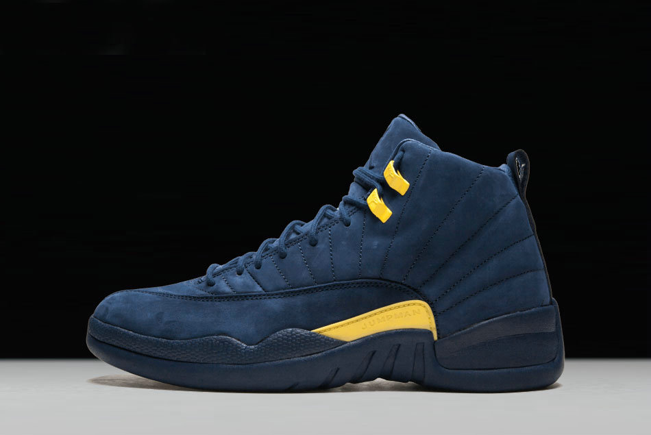 Cheap Wholesale 2018 PSNY x Air Jordan 12 Michigan PE College Navy Amarillo  For Sale 9282614c4