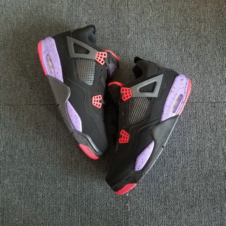 2018 Womens Air Jordans Retro 4 Raptors Red Black Purple Cheap
