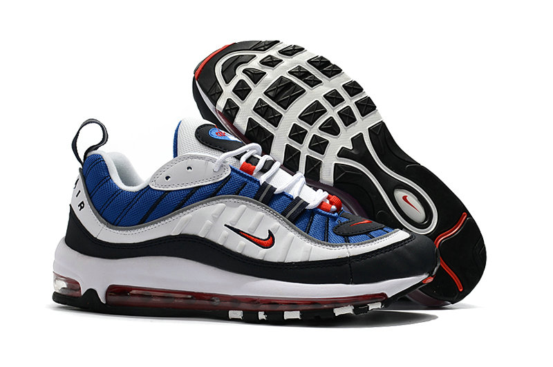new concept e6be0 58c3b 2018 Womens Nike Air Max 98 Colorways Blue Red White Black Cheap Wholesale  Sale