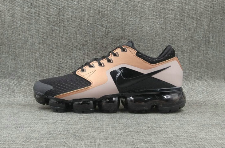 82272f994f8c87 2018 Womens Nike Air VaporMax CS Metallic Gold Black Cheap Wholesale Sale