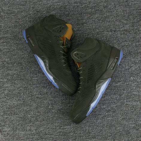 Cheapest Wholesale Sale Nike Air Jordans 5 (V) PRM Take Flight Army Green For Mens