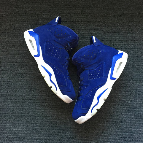 Cheapest Wholesale Sale Nike Air Jordans 6 (VI) Retro Royal Blue White For Mens