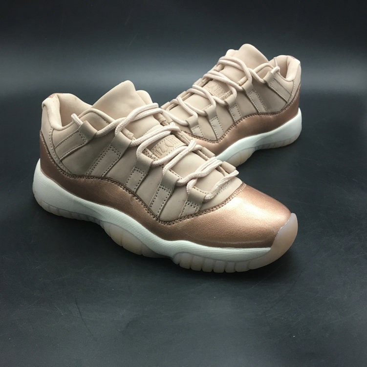 Cheapest Wholesale Sale Nike Air Jordan 11 (XI) Cream Gold For Womens