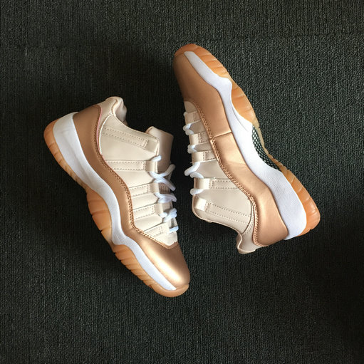 Cheapest Wholesale Sale Nike Air Jordan 11 (XI) Rose Gold For Womens